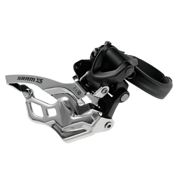 SRAM X5 Front Derailleur - 2x10 High Clamp 31.8/34.9 Black Top Pull