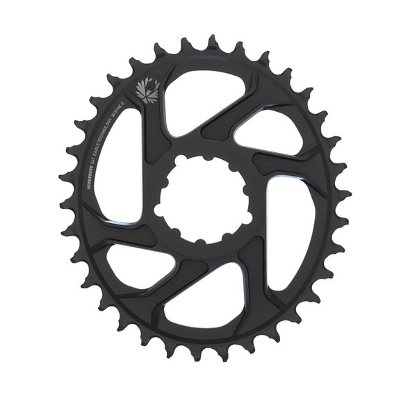 SRAM CHAIN RING X-SYNC 2 OVAL 34T DIRECT MOUNT 3MM OFFSET BOOST ALUM EAGLE BLACK