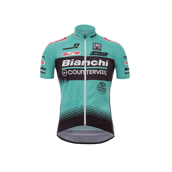 SANTINI TX ACTIVE BIANCHI 17 SHORT SLEEVE JERSEY