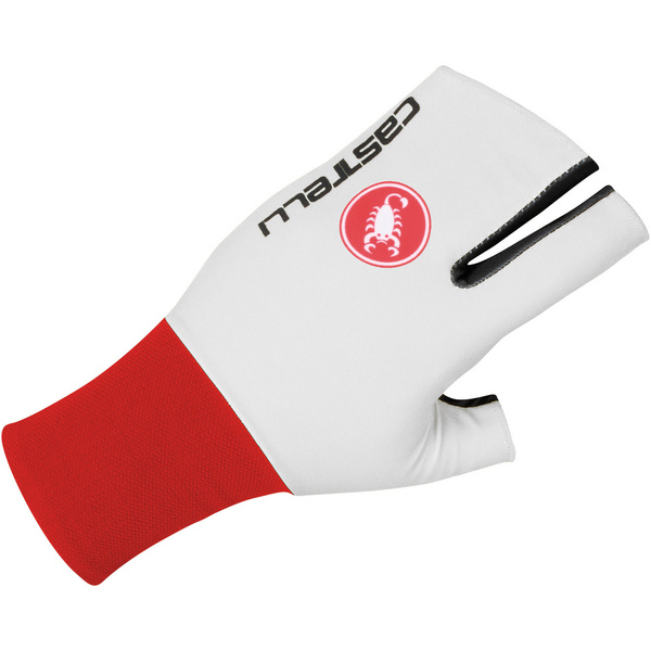Castelli Free Glove - White/Red/Black
