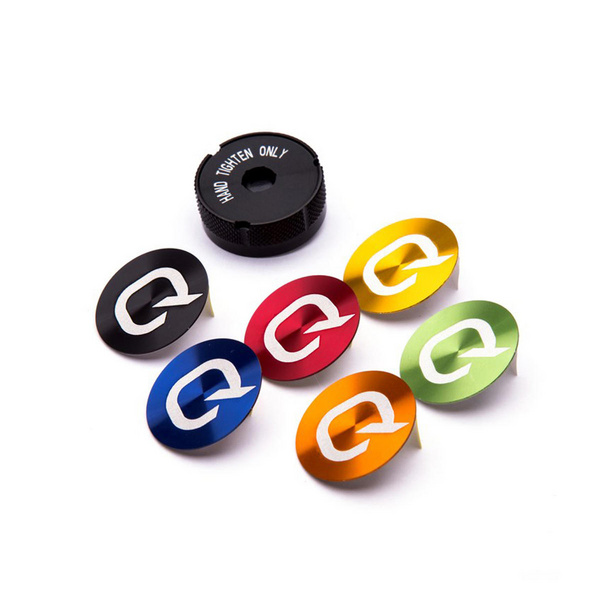 Quarq Battery Cover & Coloured Decals (Black Red Blue Orange Green & Yellow)- Compatible With Any Quarq Power Meters Produced After January 8 2015 (Revision Adx)