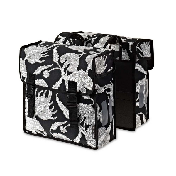 Basil Blossom Botanica M Double Bag Black 35L