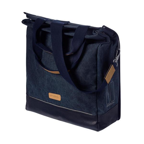 BASIL URBAN FOLD SINGLE PANNIER & SHOULDER BAG BLUE 25L