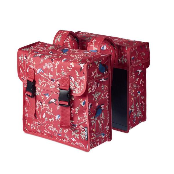 BASIL WANDERLUST DOUBLE PANNIER BAG RED 35L