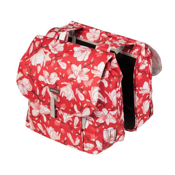 BASIL MAGNOLIA DOUBLE PANNIER BAG RED 35L