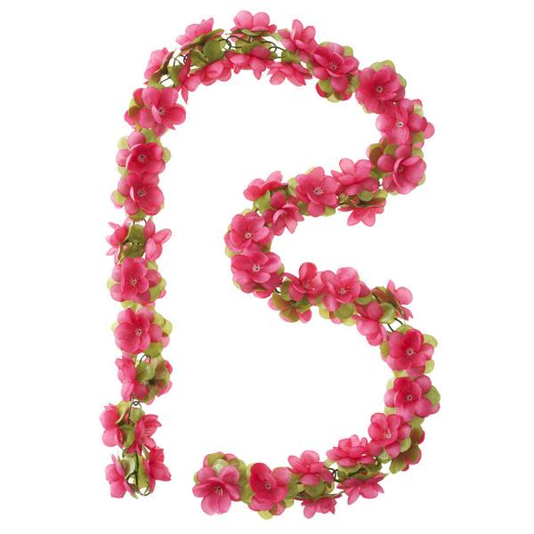 Basil Flower Fucia Garland