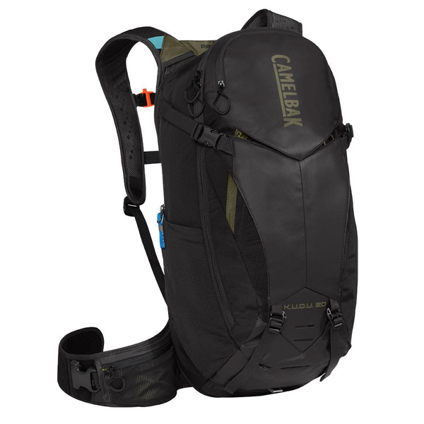 CAMELBAK KUDU PROTECTOR 20 DRY HYDRATION PACK 2018: BURNT OLIVE/LASER ORANGE 20L/700OZ (S/M)