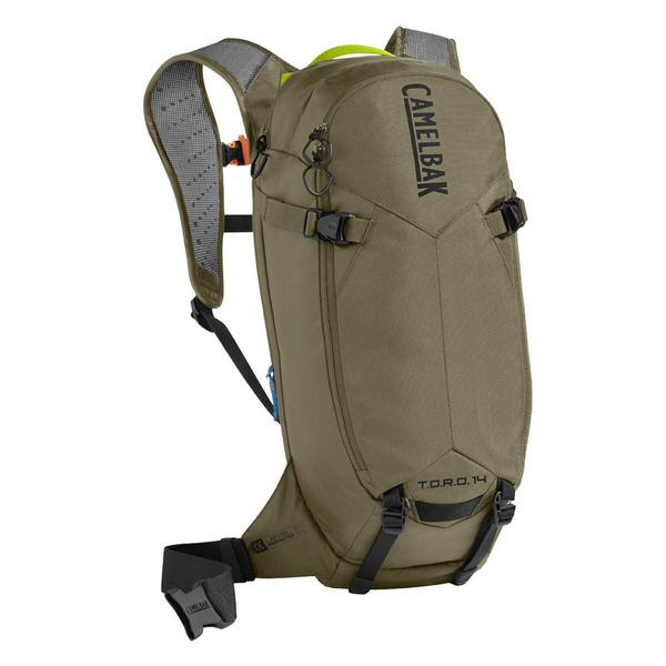 CAMELBAK TORO PROTECTOR 14 DRY HYDRATION PACK 2018: BLACK/BURNT OLIVE 14L/490OZ