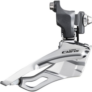 FD-2403 Claris 8-speed front derailleur, triple braze-on