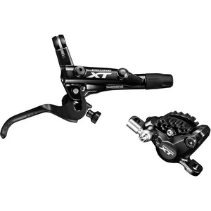 BR-M8000 XT bled I-spec-II compatible brake lever and calliper, rear left