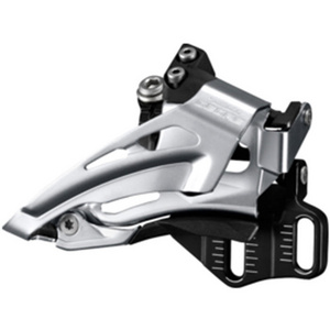 Deore M618-E double front derailleur, E-type, top swing, dual pull