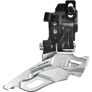 FD-M611 Deore 10-speed triple front derailleur, top-pull, direct-fit, black