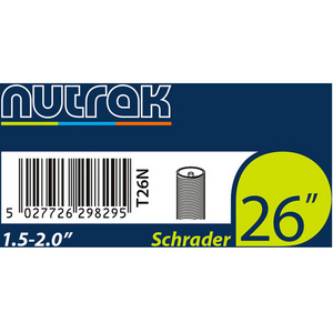 26 x 1.5 - 2.0 inch Schrader inner tube