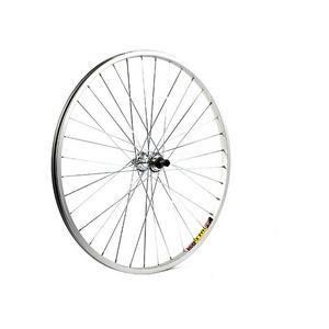 26 x 1.75 alloy QR axle for multi freewheel 135 mm silver rear wheel