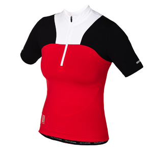 Altura Women'S Synchro Short Sleeve Jersey Trans Red/Blk/Wht 10