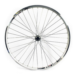 Wilkinson 700C Front Wheel - Hybrid Silver Double Wall Rim - V-Brake Q/R Axle Hub Silver Spokes, 36 Hole