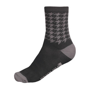 Endura Houndstooth Sock (Twin Pack):