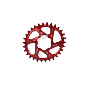 Hope Oval Spiderless Retainer Ring - Red