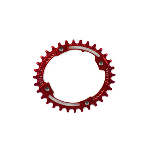 HOPE OVAL RETAINER RING - RED
