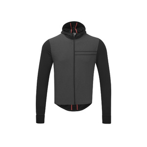 Mens Cycle Hooded Wind Jersey, Black