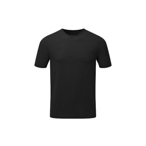 Mens Short Sleeve Baselayer, Black, Large