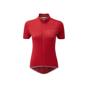 Womens Cycle QoM Jersey, Red, Small
