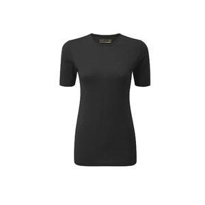 Womens Short Sleeve Baselayer, Black, Medium