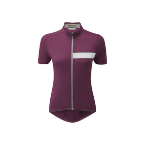 Womens Cycle Short Sleeve Classic Jersey, Aubergine, Small
