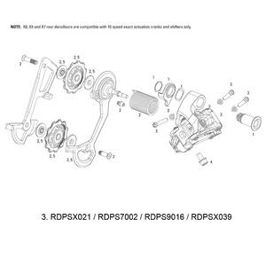 SRAM B-Screw/Limit Screw Kit for Rear Derailleur X0 2011/X0 Type 2 10spd