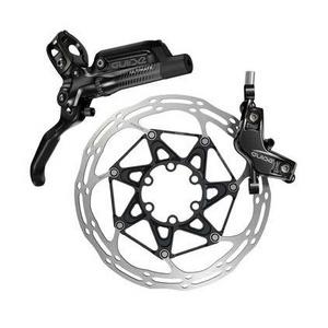 Sram Guide Ultimate - Rear 1800mm Hose - Carbon Lever - Ti Hardware - (Reach, SwingLink, Contact) Black Ano  (Rotor/Mount sold separately) - Rear Brake Includes Bleed Kit