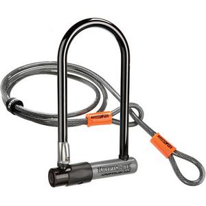 KryptoLok Series 2 Std U-lock with 4 foot Kryptoflex cable