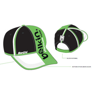 DC461COT4BE -Santini Belkin Podium Cap Black/Green One Size