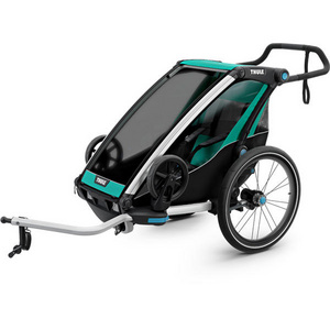 Chariot Lite 1 U.K. certified child carrier with cycling and strolling kit