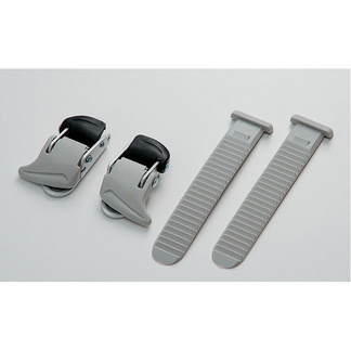 Universal small buckle and strap set, grey