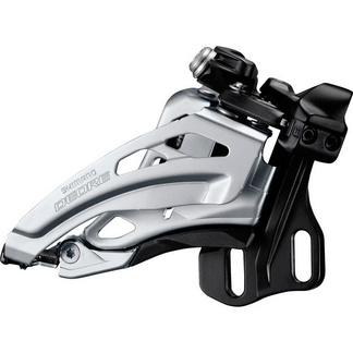 Deore M617-E double front derailleur, E-type, side swing, front pull