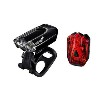Mini-Lava twin pack micro USB front and rear lights black