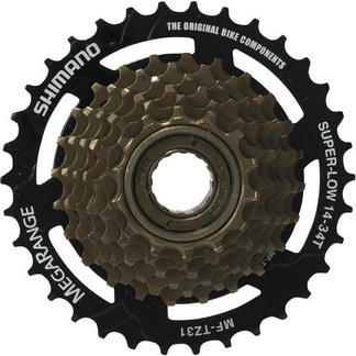 MF-TZ31 7-speed multiple freewheel, 14-34 T MegaRange
