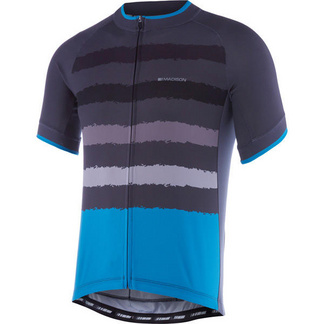 Peloton men's short sleeve jersey, torn stripes
