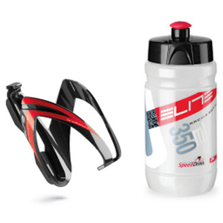 Ceo youth bottle kit includes cage and 66 mm, 350 ml bottle red