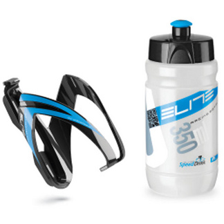 Ceo youth bottle kit includes cage and 66 mm, 350 ml bottle blue