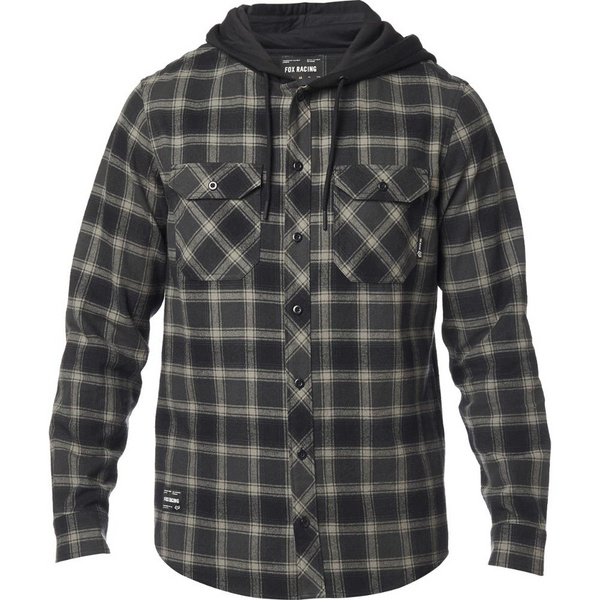 Fox Avalon Hooded Flannel [Blk]