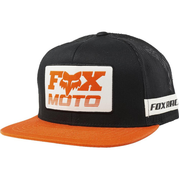 Fox Charger Snapback Hat [Blk/Org]