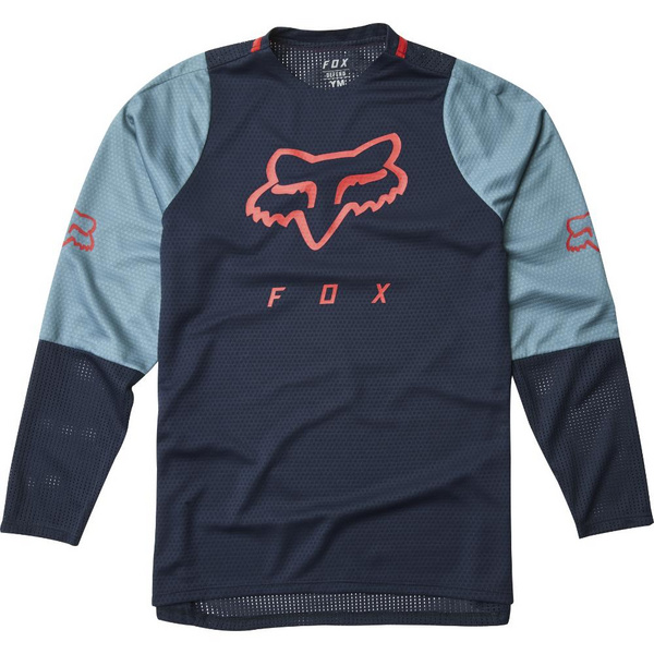 Fox Yth Defend Ls Jersey [Nvy]