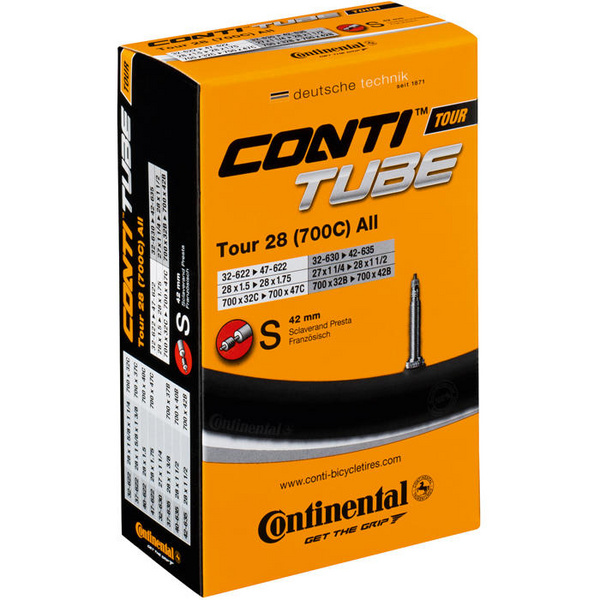 Tour 700 x 32 - 47C 42mm Presta inner tube