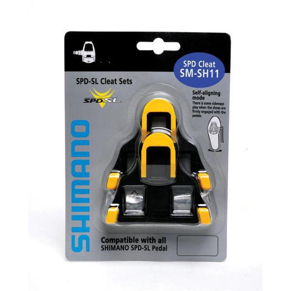 shimano SM-SH11 SPD SL-Cleats Centre Pivot Floating Yellow