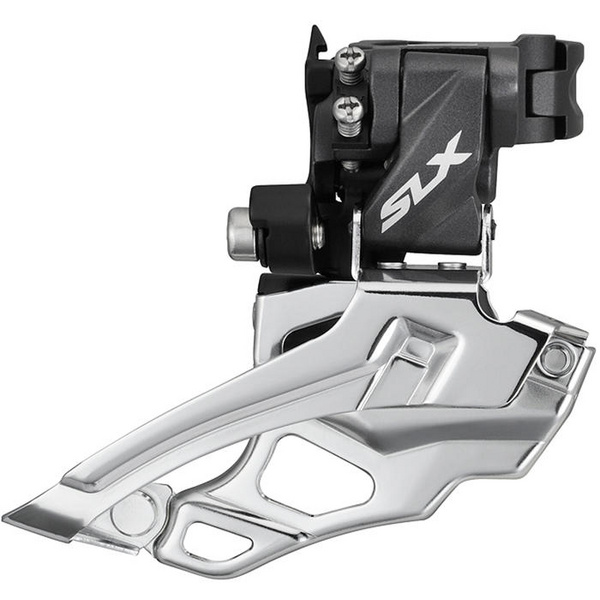 FD-M676 SLX 10-speed double front derailleur, conventional swing, top-pull