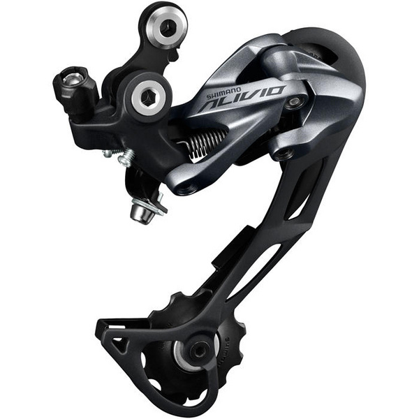 RD-M4000 Alivio 9-spd Shadow design rear derailleur, SGS, top normal, silver
