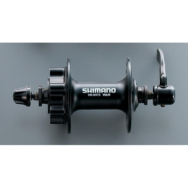 HB-M475 disc front hub 6-bolt black