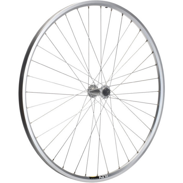 Shimano Deore / Mavic A319 silver / DT Swiss P/G 36 hole front wheel
