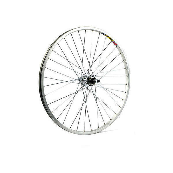 24 x 1.75 alloy for multi freewheel 135 mm silver rear wheel